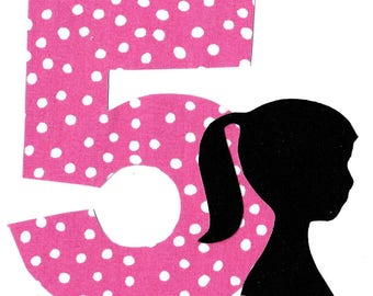 DIY Barbie applique and pick any number iron on applique