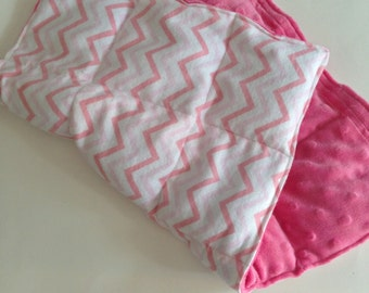 Weighted lap pad, Girl's weighted lap pad, Pink weighted lap pad, Weighted lap pad for girls, Pink Minky weighted lap pad, 2 pound lap pad