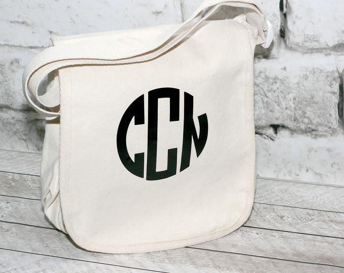 Featured listing image: Circle Monogram Canvas Messenger Bag