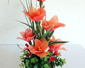 Handmade Nylon Flower Arrangement