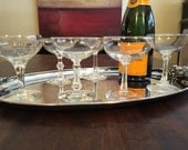6 Vintage Champagne Coupe Glasses - Set of Six Party Glasses