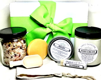 Spa Set Gift for Womens Gift Set Bath Salts Gift Lotion Gift for Her Soap Gifts for Mom Birthday Gifts for Girlfriend Gift Spa Gift Basket