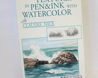 Creating Textures in Pen And Ink with Watercolor VCR/VHS tape   part 1 by Claudia Nice used North Light