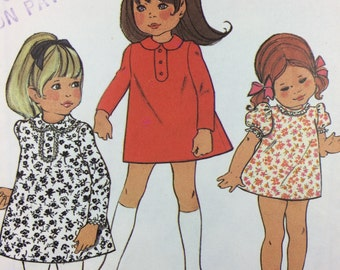Vintage STYLE Sewing Pattern 2628. UNCUT COMPLETE. Size 6 Child's A-Line Dress