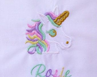 magical unicorn shirt/ pastel unicorn shirt/ pink, mint, purple, gold unicorn/ personalized unicorn shirt