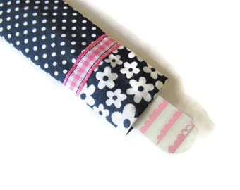 Navy Blue Fabric Sleeve For Emery Board - Nail File Case - Emery Board Cover - Protective Sleeve for Nail Files - Fabric Emery Board Cover