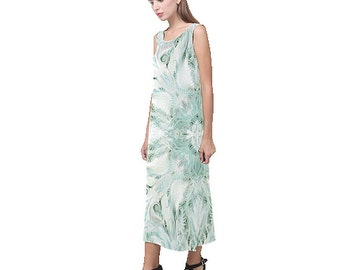 jewels -handpainted -soft silk dress from XS to XXXL-summer dress-bridemaid dress-spring dress-maxi dress-silk slip dress