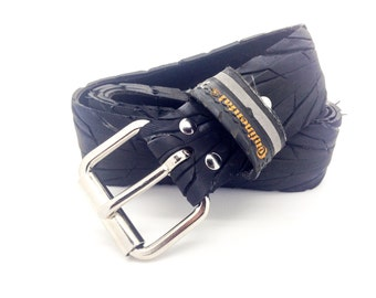 """Bicycle Tire Belt """"CONTINENTAL"""" (upcycled vegan handmade) by tirebelt.com - Fall 2016"""
