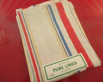 Stripe Linen Dish Towel - By Stevens - 9056