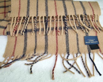 Brooks Brothers Lambswool Made In Scotland Scarf