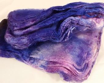 Hand- dyed  silk hankies -  ( 1.3  oz.)