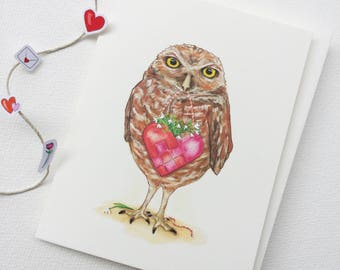 Owl Post - A2 Greeting Card - Love Note