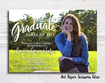 Graduate Party Invitation/ Graduation Party Invite/ Grad Invitation/ Grad Invite/ High School Graduation Invitation/ College Graduation