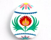 Limited Edition 2017 Polish Pisanka (Pisanki) Easter Egg brooch multi colour laser cut acrylic