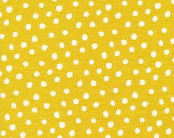 Spots Citron - Interlock Knits - Organic Cotton - Cloud 9 Fabrics - 1 Yard