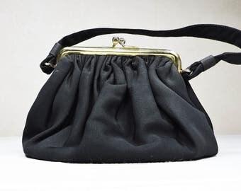 Vintage Black Purse, Clutch, Handbag