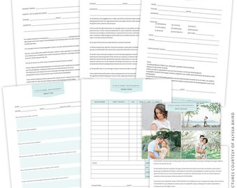 INSTANT DOWNLOAD - Studio Forms Set Templates - e1466