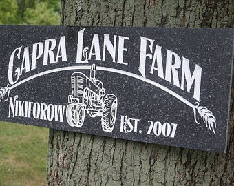 Family Farm Sign, Personalized Sign, Family Ranch Sign, Farm Sign, Farmhouse Wall Decor, Fixer Upper Sign, Benchmark Signs, Acrylic HF