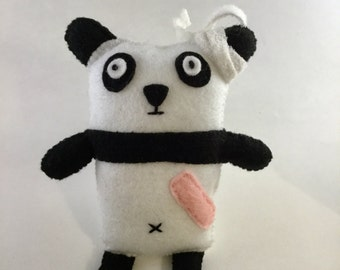 Clumsy Panda - Get Well Soon Gift idea - felt plush soft toy