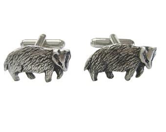 Textured Badger Cufflinks