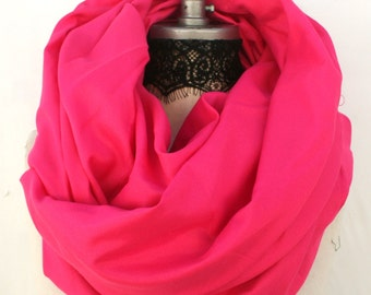 Red pink infinity scarves scarf, soft lightweight loop scarf, winter is coming, Christmas gift ideas, birthday gift for women gift, PiYOYO