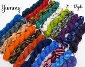 Yummy -  21 Sock Yarn mini skeins, 12 yds each, 252 yds total