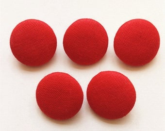 Red Solid Color Sewing Button Fabric Covered Button Diy Accessories Shank Colthing Button Decoration Button