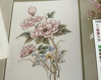 Cheery Hello - Flower Blossoms - Cross Stitch Pattern Only
