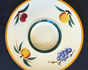 """HTF Vintage Stangl Fruit 13-1/2"""" Lazy Susan in Excellent Condition from Flemington Outlet"""