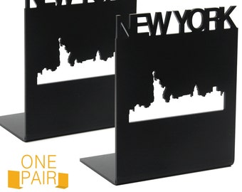 1 Pair - Bookends NEWYORK / BOOK / Whale Tail / Water / Skull / Giraffe