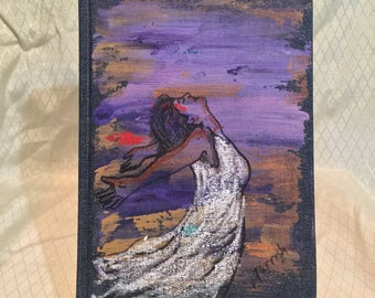 "Handpainted sketch journal, gift item, gift for artist by Parrish Monk  ""Letting it All Go"""