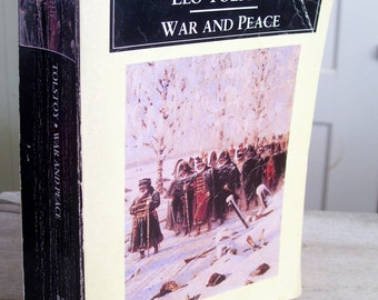 War and Peace Book, Leo Tolstoy Book, Vintage Tolstoy, Russian Literature Book, Vintage, Russian Fiction, Softcover Book, Classic Literature