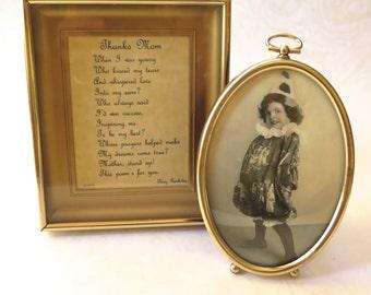 Vintage Shadowbox Oval Gold Frames