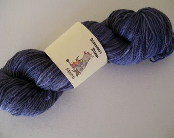 Melody- 8ply/light worsted/DK Machine Washable Purple/Grey BFL.  Steel