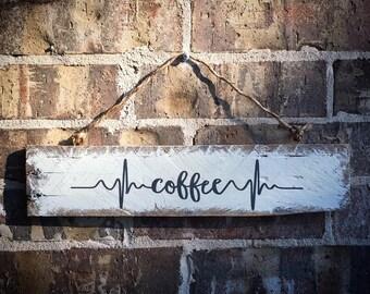Reclaimed Wood Coffee Sign