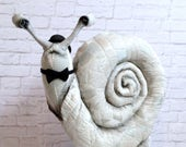 Otto Snail About Town faux taxidermy|freestanding|snail|bowlers hat|