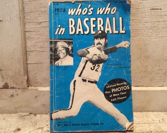 Baseball, Book, Stats, Sports, Whos Who In Baseball, Paperback, 1970s, Sports Props, Prop, Man Cave, All Vintage Man
