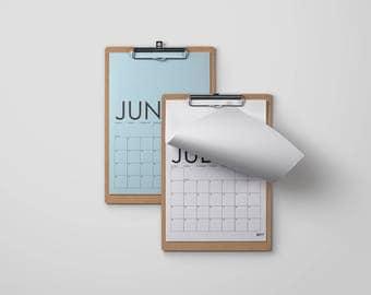 MINIMALIST 2017 CALENDAR download and print at home, simple, minimal, graphic design, pdf