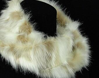 Faux Fur Scarf - Winter Fox Faux Fur Cowl - Faux Fur Infinity Scarf