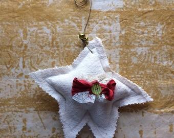 Homespun Christmas Star Ornament