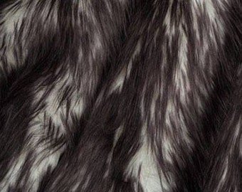 Candy Shag Fur Black 58 Inches Fabric by the Yard, 1 yard