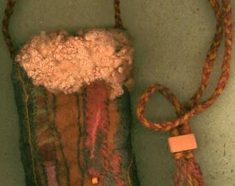 Mahuika - wet felted bag