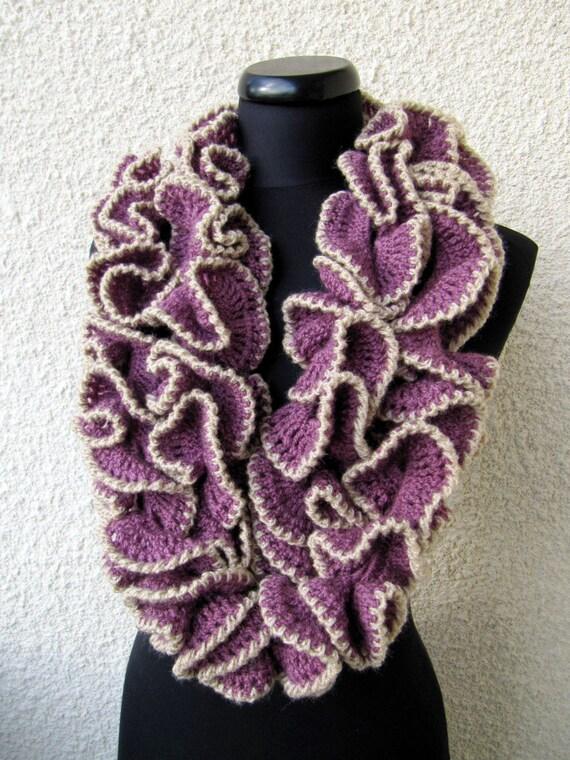 Crochet Scarf Pattern Ruffle Scarf Diy Crafts Unique Crochet