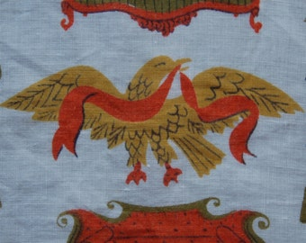 1950's Tammis Keefe Americana print cotton handkerchief
