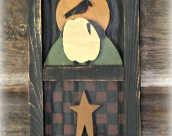 Primitive Wall Hanging ~ Primitive Decor ~ Primitive Wall Decor ~ Checkerboard Wall Hanging ~ Primitive Home Decor ~ Farmhouse Decor