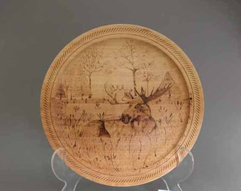 Moose in the Meadow......   plate
