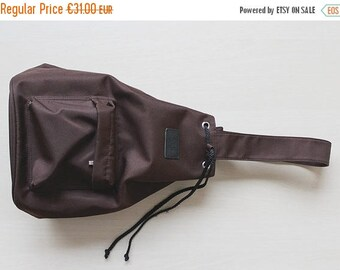 50% OFF Chocolate brown one shoulder sling backpack