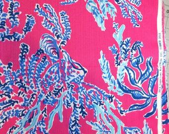 Capri Pink Samba Cotton Dobby 18 X 18 inches inches  ~Lilly Pulitzer~
