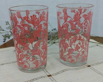 Vintage Pair of Juice Glasses / Jelly Jar / Jam Jars / Collectible