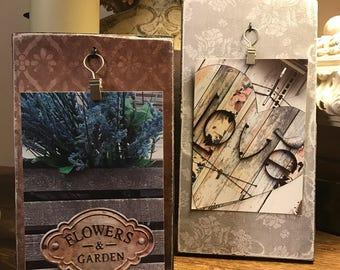 Vintage inspired photo holders